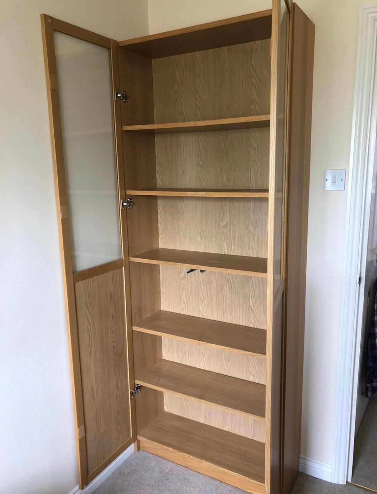 Ikea Billy Bookcase With Glass Panel Doors
