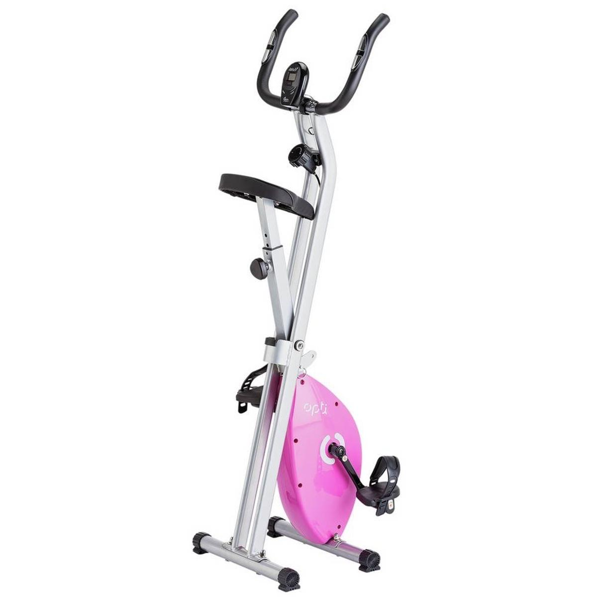Opti Folding Magnetic Exercise Bike Pink In Cv2 Coventry For