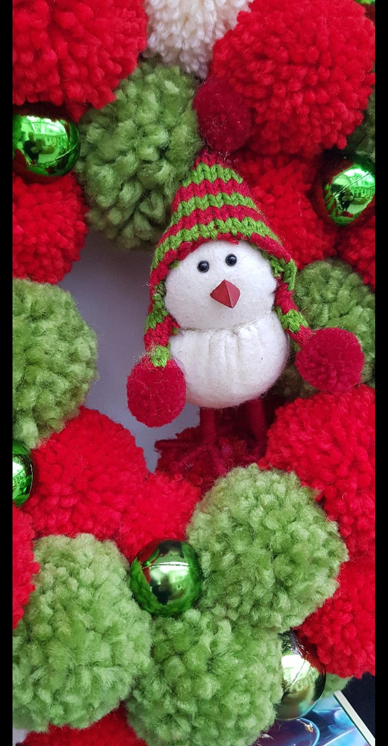 Christmas Wreath Pom Pom In Wigan For 20 00 For Sale Shpock