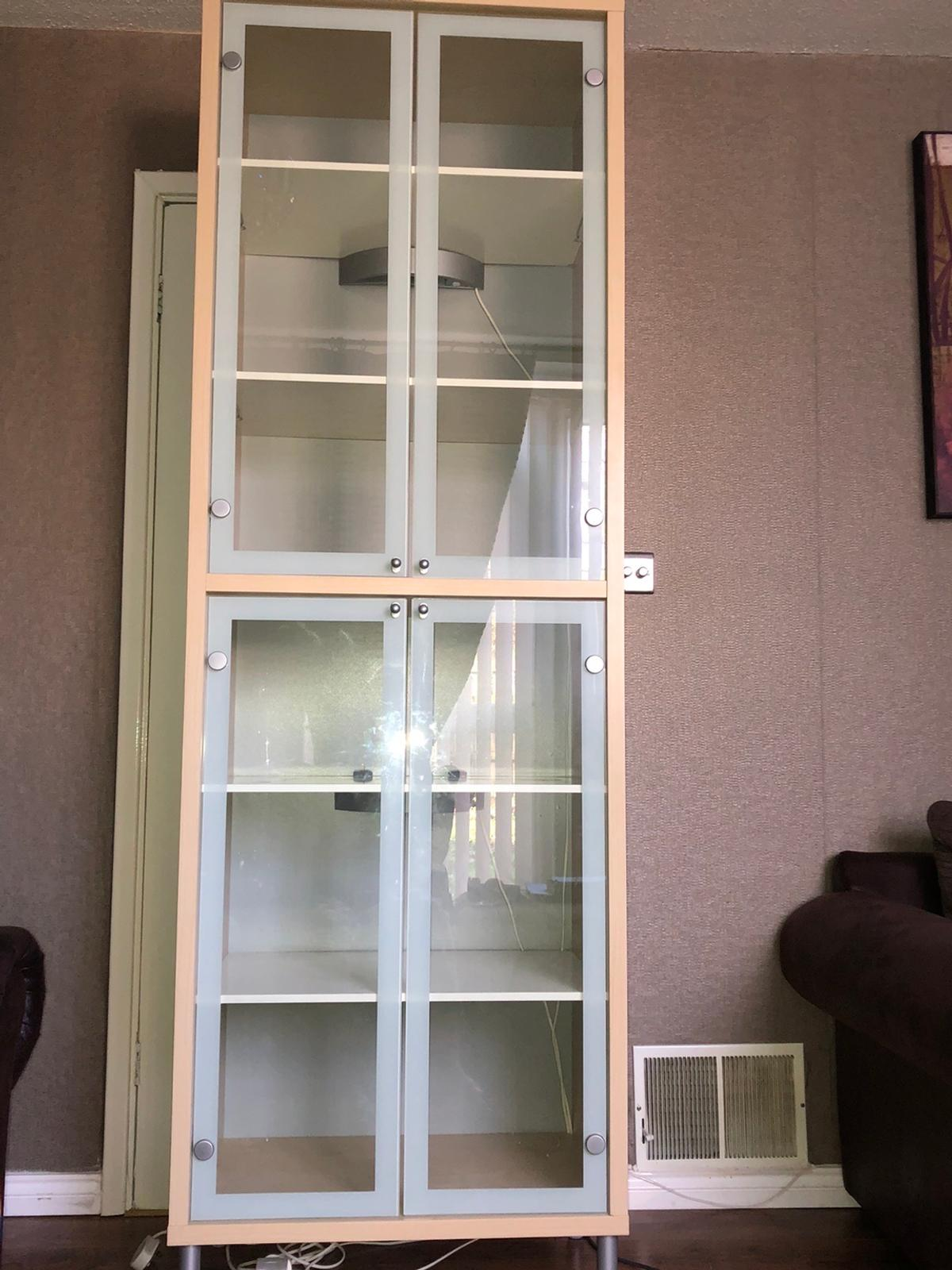 Ikea Billy Display Cabinet With Gl