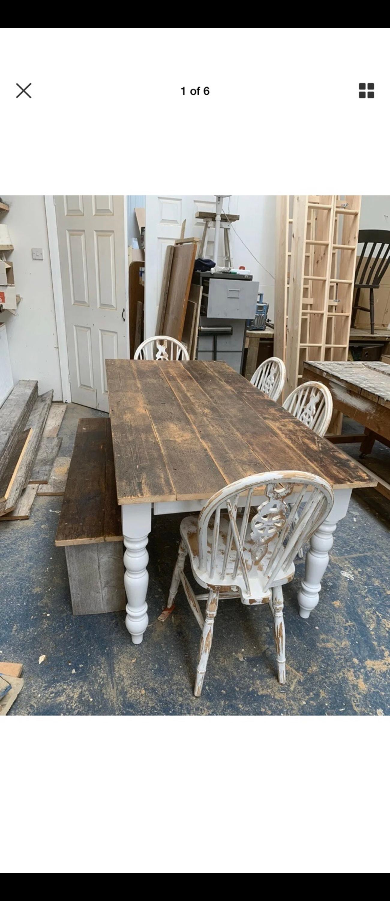 Rustic Farmhouse Dining Table In Tn12