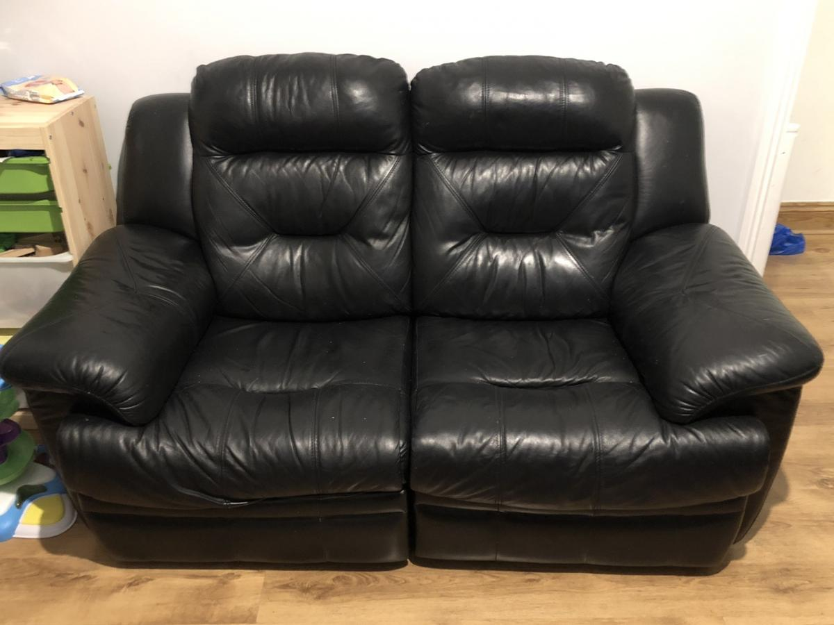 2 Leather Electric Recliner Sofas In E4