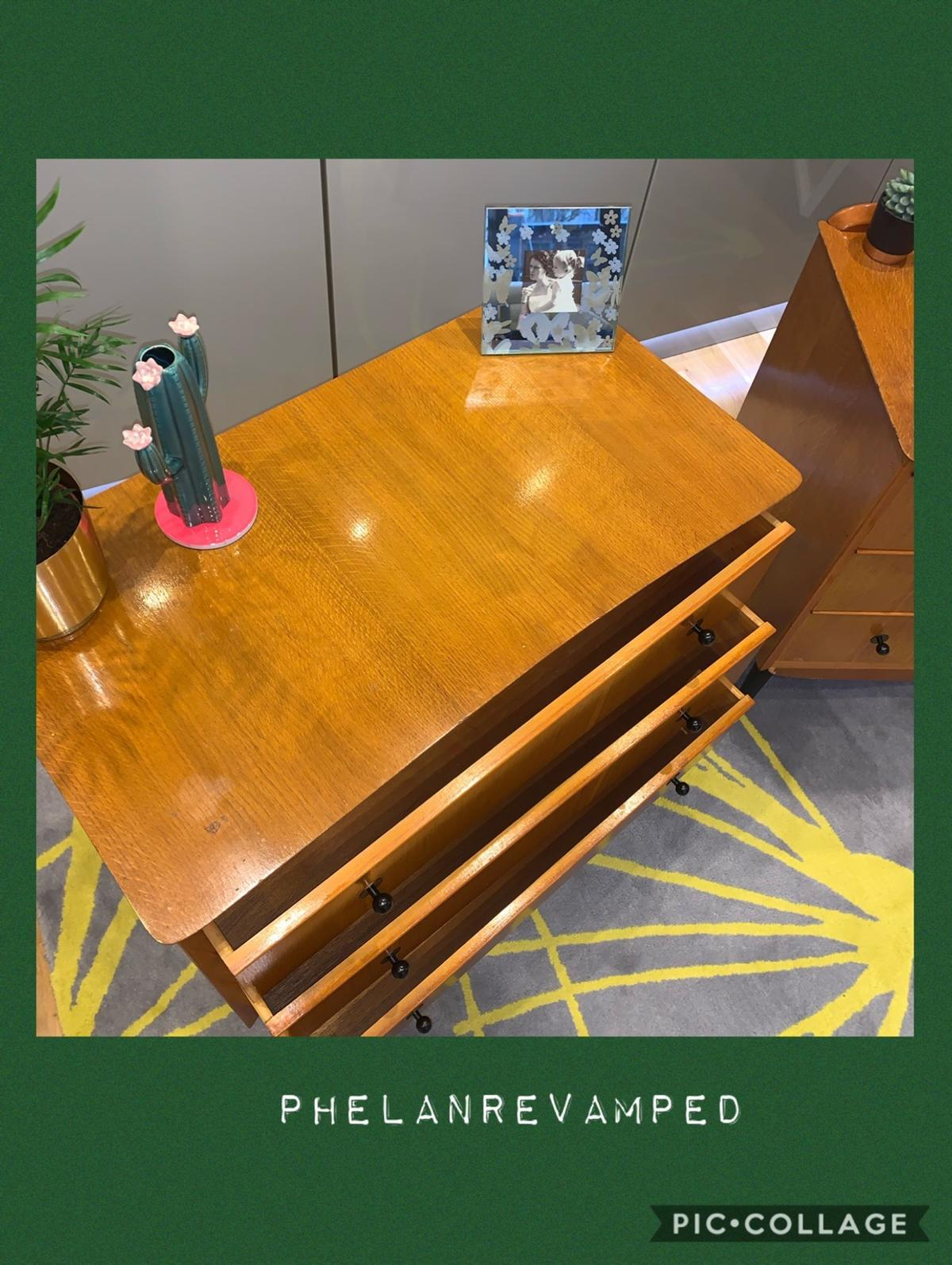 Mid Century Dressing Table Matching Drawers In London