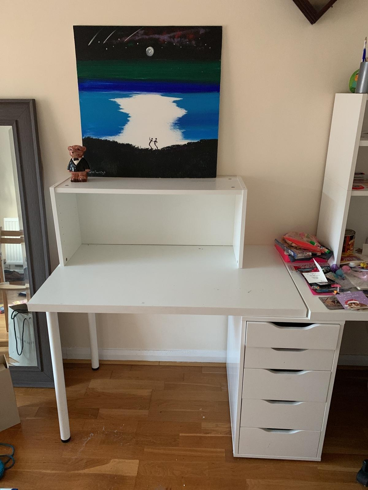 Ikea Desk And White Alex Drawer And Shelve In Rg6 Arborfield Fur