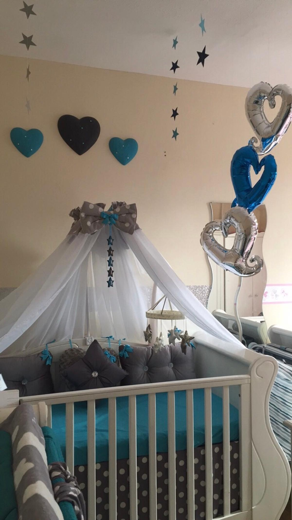 - Tutti Bambini Sleigh Cot Bed Canopy Drapes In LE5 Leicester Für
