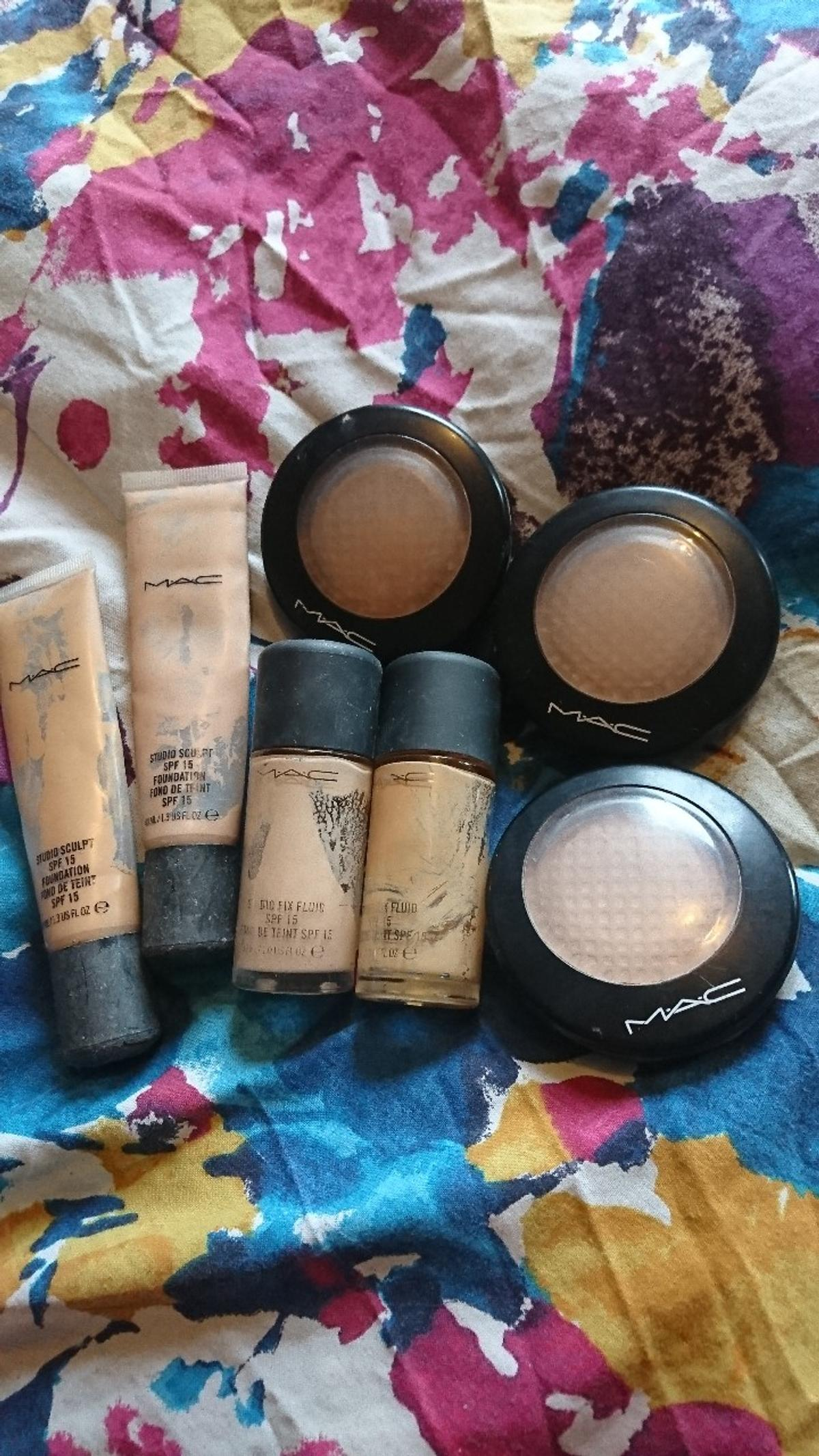 Empty Mac Makeup Containers In