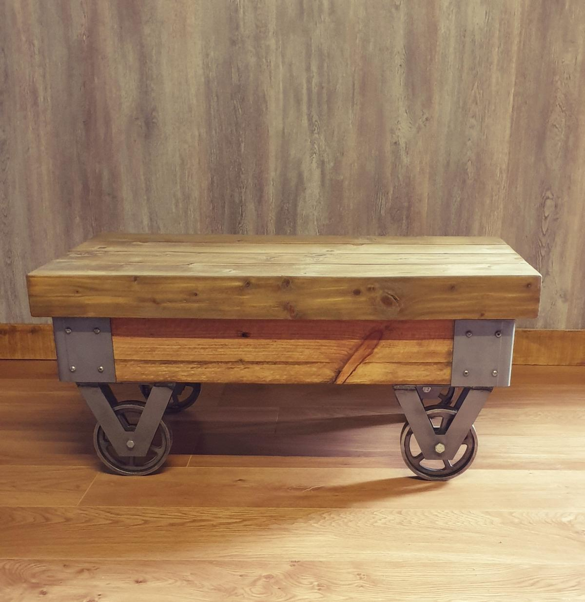 Rustic Industrial Coffee Table Cart In St2 Trent For 120 00 For Sale Shpock