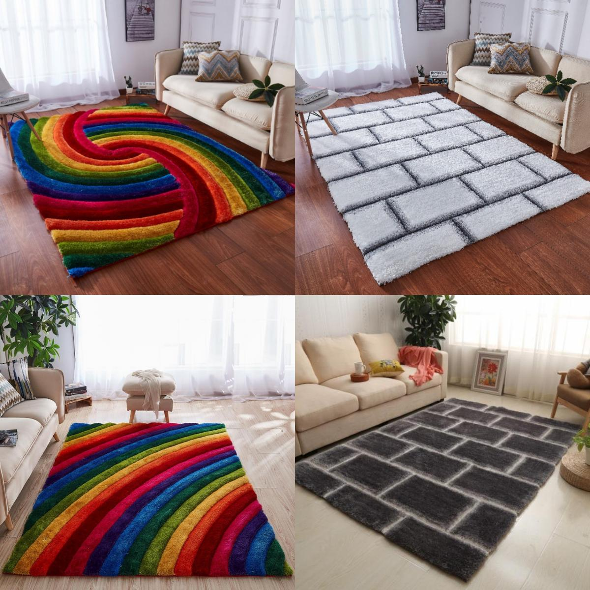 Rugs Thick Soft Polyester 120x170 In