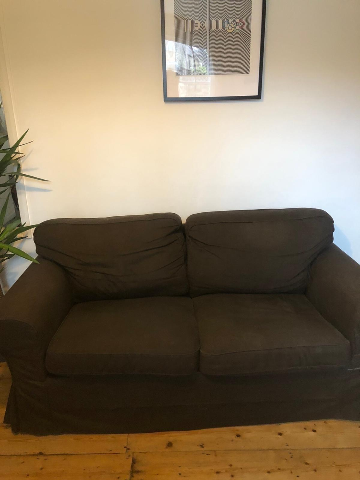 Ikea Sofa With Without Throw Cushions
