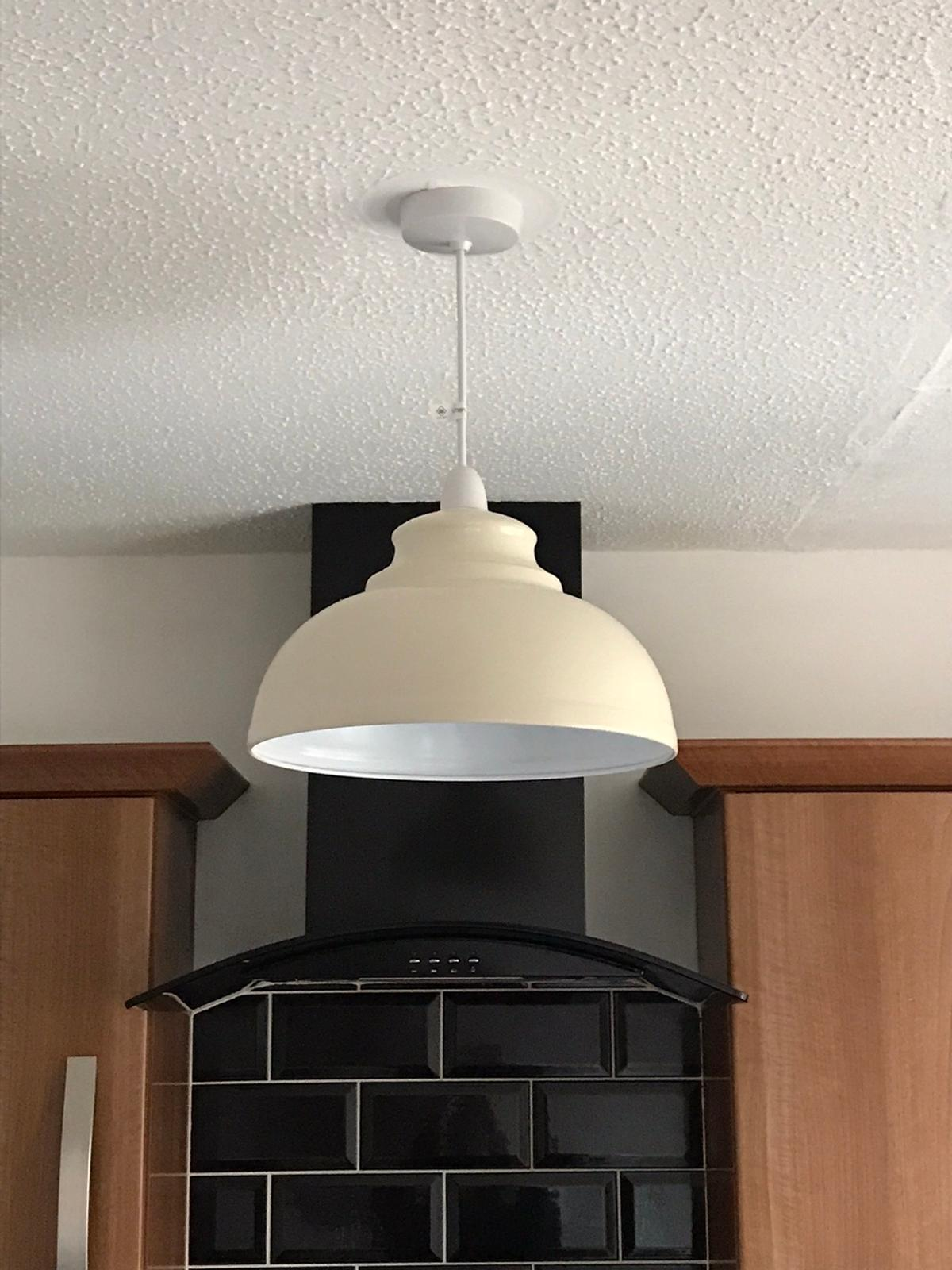 Cream metal lamp shades From the range originally £5 each They are currently still for sale in the shop and are £8.99 each.