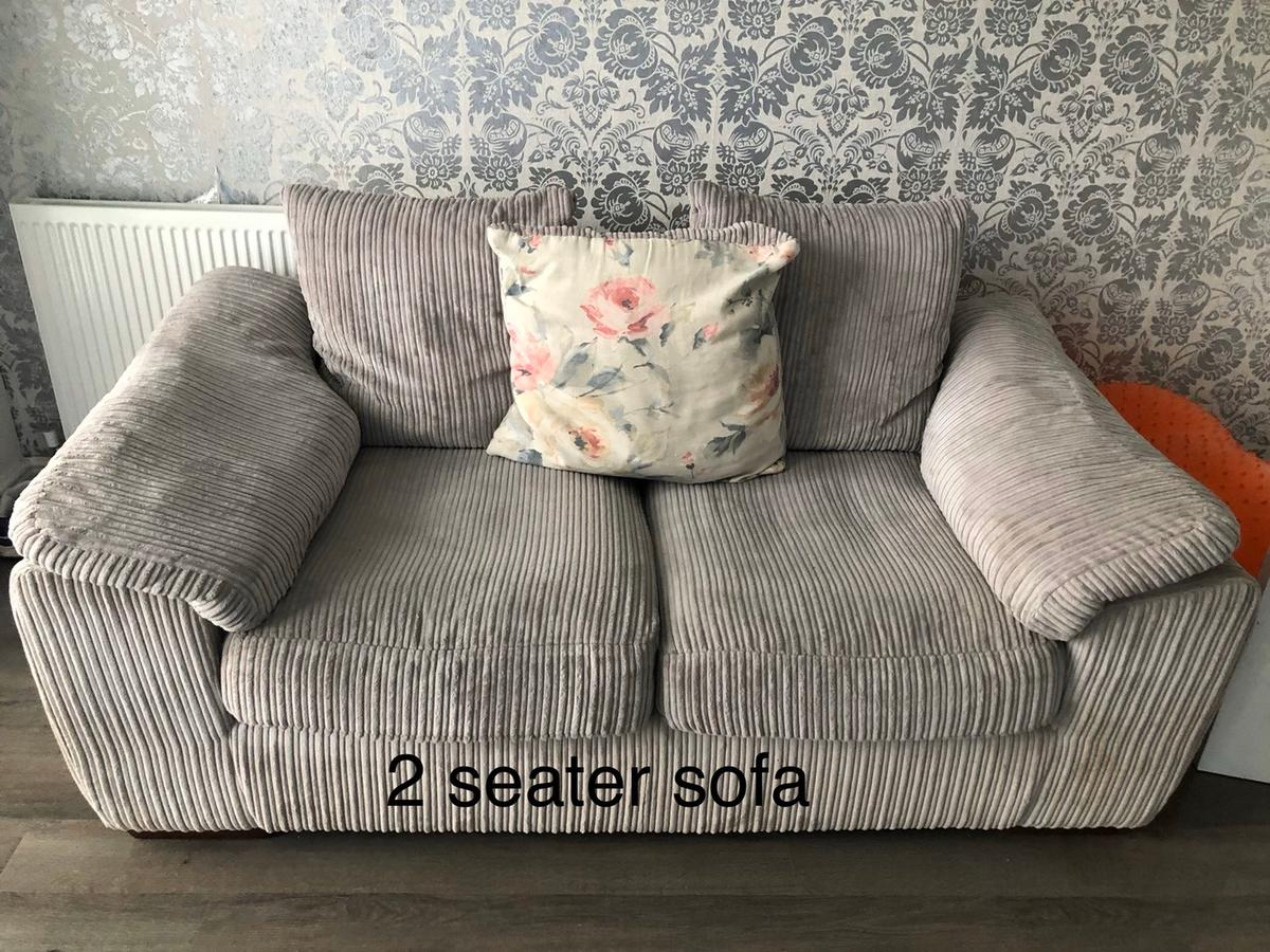 NEED GONE ASAP *CAN GO ANYTIME NOW*  Selling my grey 3 seater sofa, 2 seater sofa and a storage footstool. Good condition just zip on one cushion on 3 seater sofa is broken but could be easily fixed. Would do for someone just starting out Only selling as getting a new one Collection only wingate Pickup anytime now, sooner the better Any questions just ask £200 ono for all Will consider sensible offers