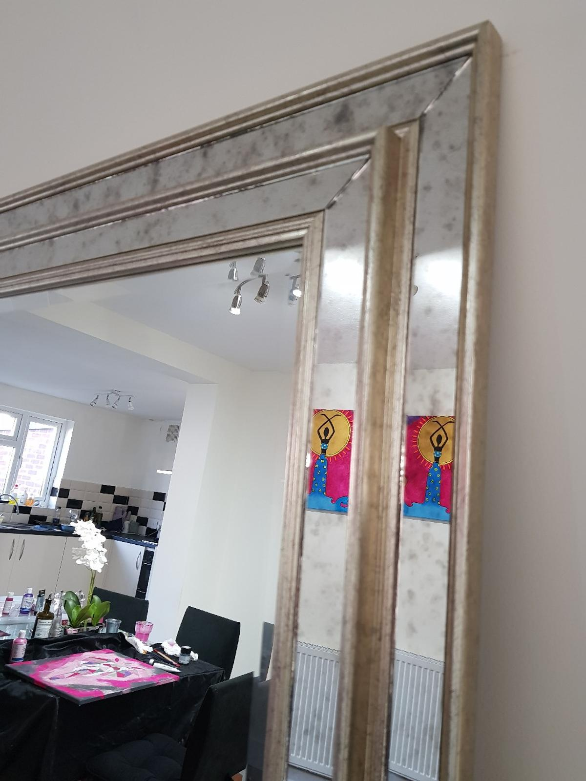 Hi guys,  I bought two of these gorgeous mirrors and I only really need one as I did not realise how big it is. I am keeping one and always get compliments on how gorgeous it is.  The mirror is still in it's original packaging and I am selling at a discounted price because if I return it to the store, I will have to pay for the return.  Happy shopping 😊