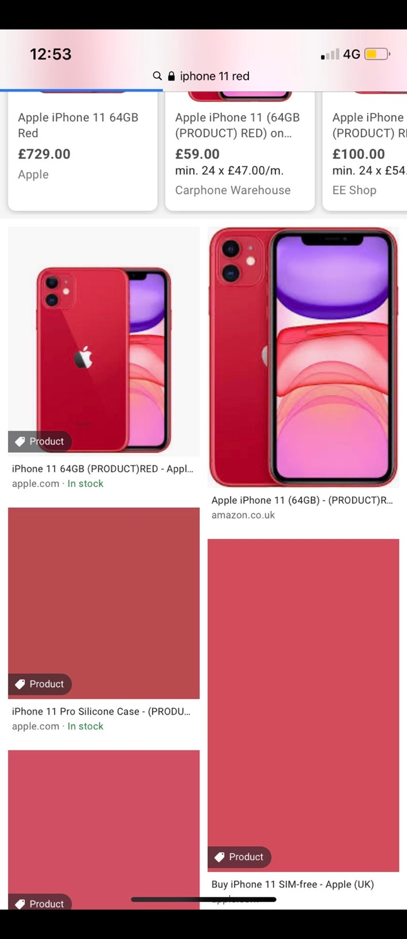 3 weeks old Red iPhone 11. Nothing at all wrong with it got it due to an upgrade but it's to big for me to use. Oringinal iPhone charger & headphones