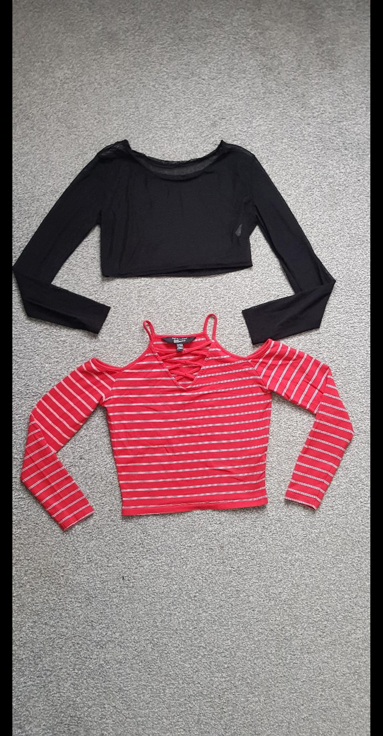 Selling two crop tops used but still in good condition.