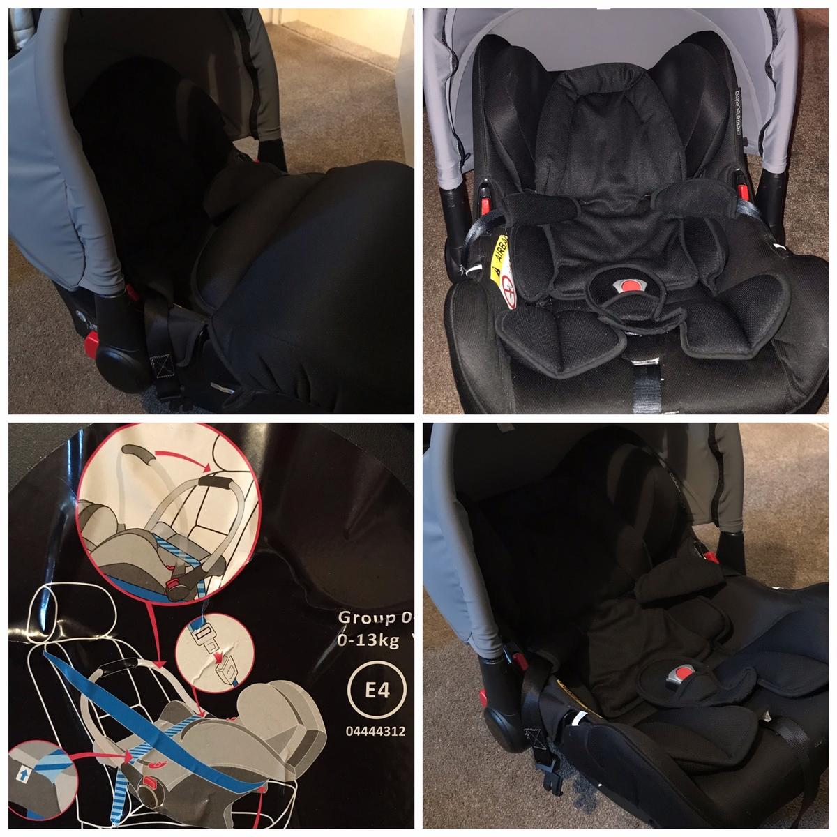 Ickle bubba stomp v3 travel system including Frame Seat Carrycot Car seat (never been in a crash) Isofix base Rain cover Changing bag Footmuffs and carrycot cover Car seat adaptars and instruction books. It's in good condition, only used for a year, few scratches on the frame and a small mark on the car seat under the cushion. No time waisters, first to collect will get the travel system. Collection only from burslem Cash only