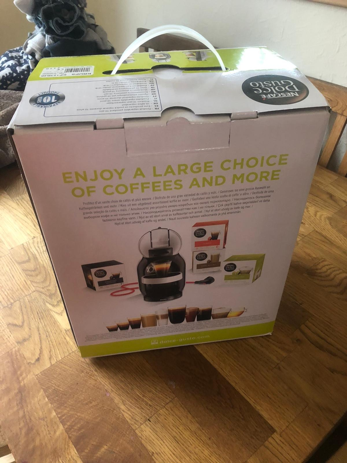 Brand new dolce gusto coffee machine, was bought as a gift from family for Christmas but we already have one. They bought it months ago so can't return! Never even been opened!Grab a bargain