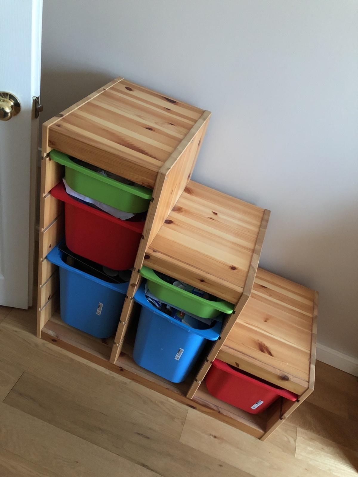 To be sold with the coloured boxes Great storage unit No marks or stains on the unit