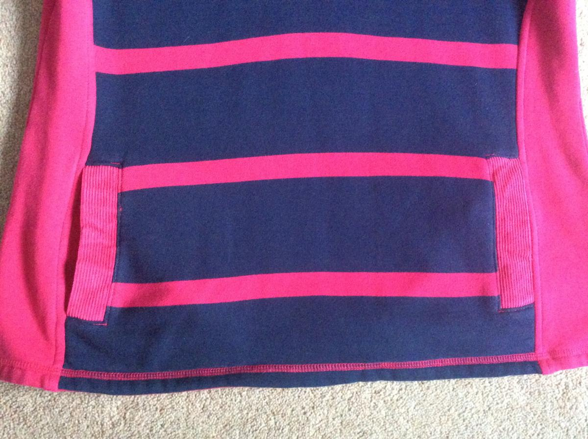 100% Cotton Ladies Size 12 Crew Clothing top, pink/navy blue, lovely warm top, immaculate condition, no rips or marks, smoke free home, collection from CO16