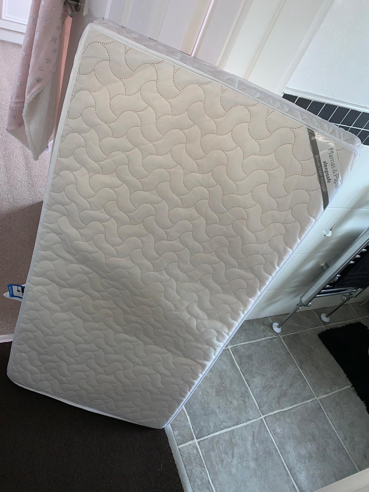 Mamas and papas cot mattress. Delux foam, used but in excellent condition. Not a mark on it. Smoke and pet free home. Collection only