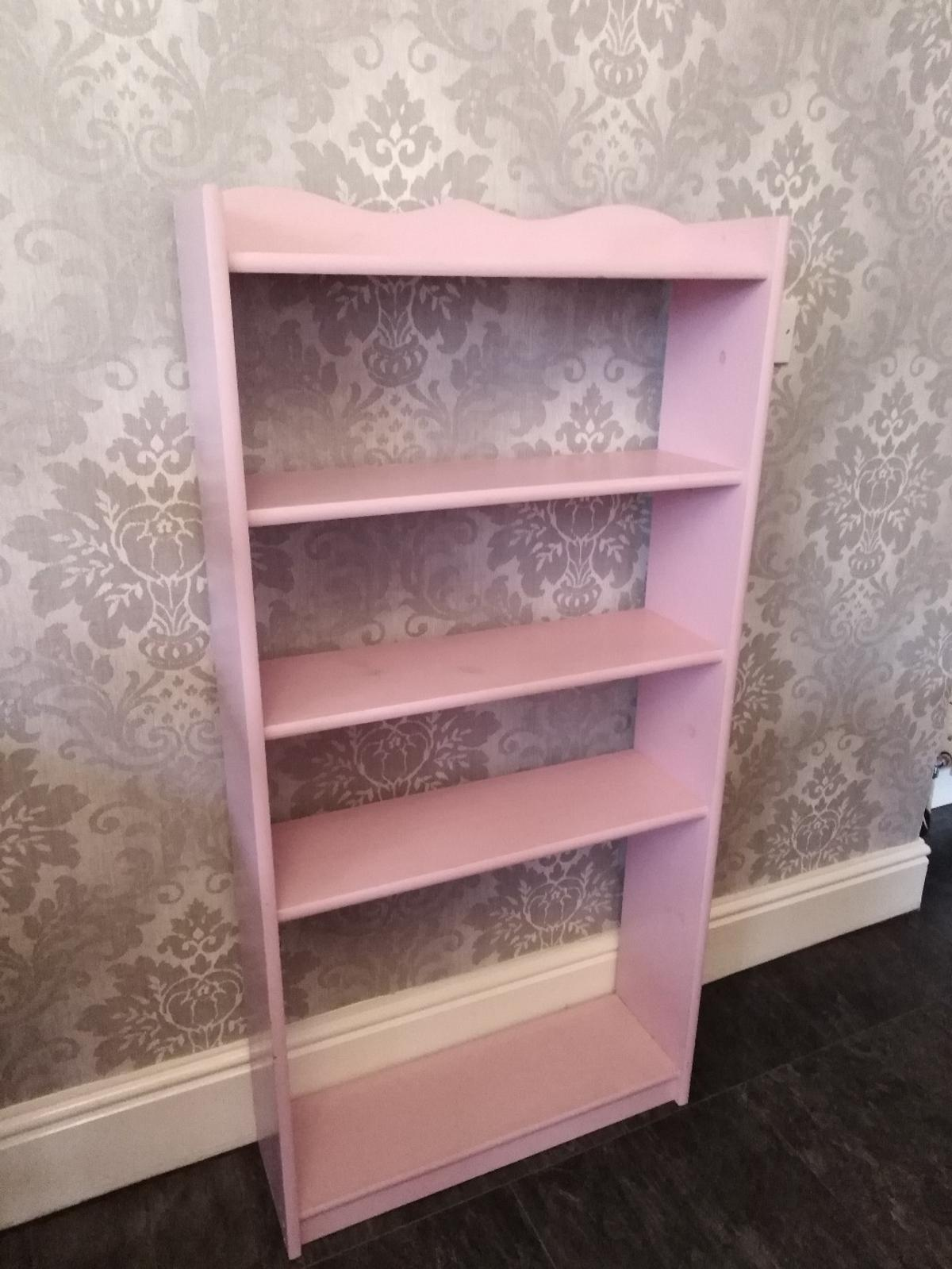 Shelving unit used in pink Selling for a friend Size in last pic Collection only Could be repainted