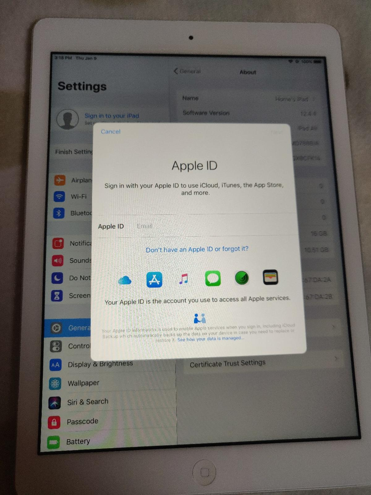 iPad air 1 16GB WiFi only Great condition working perfectly Best for downloading apps or games U can check before buying All reset . Collection from L8 Liverpool  Can deliver local in£5 N