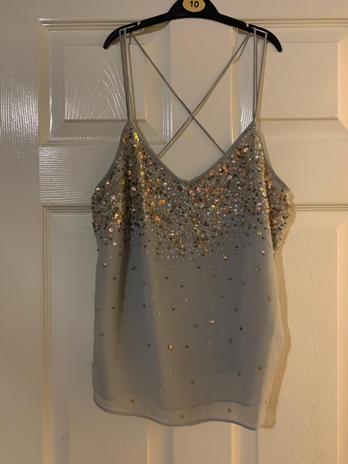River Island Sequin Top, Size 12. Only worn once or twice.