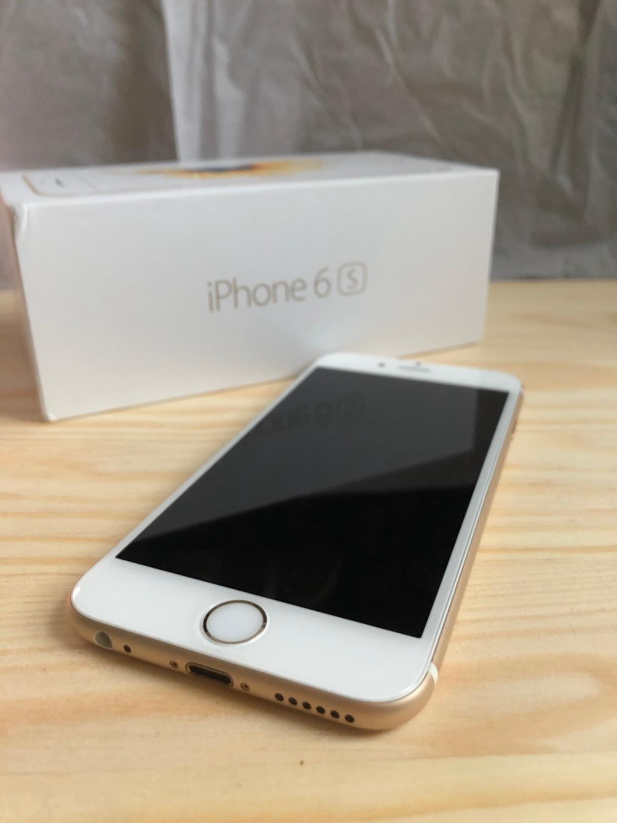 iPhone 6s in gold with 64GB storage  Currently locked to EE network.  NEW, not used, no scratches or marks!  Comes in original box with charger.