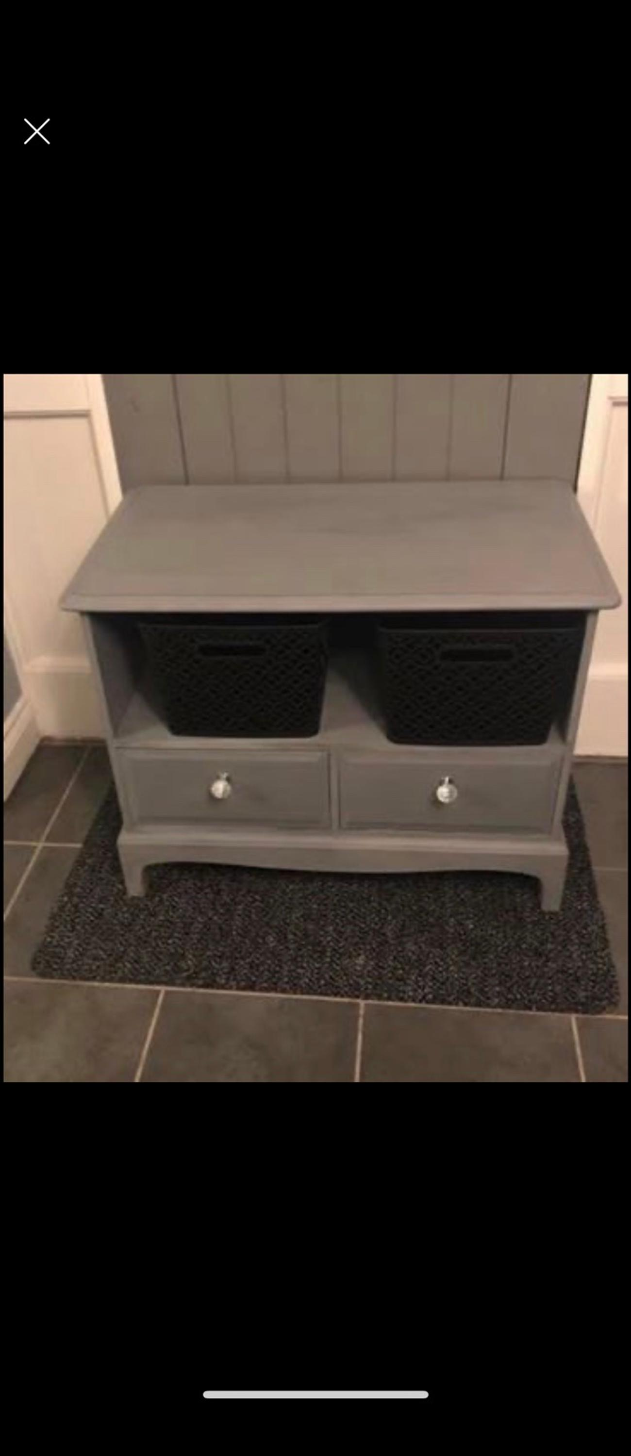 Painted grey waxed includes storage boxes