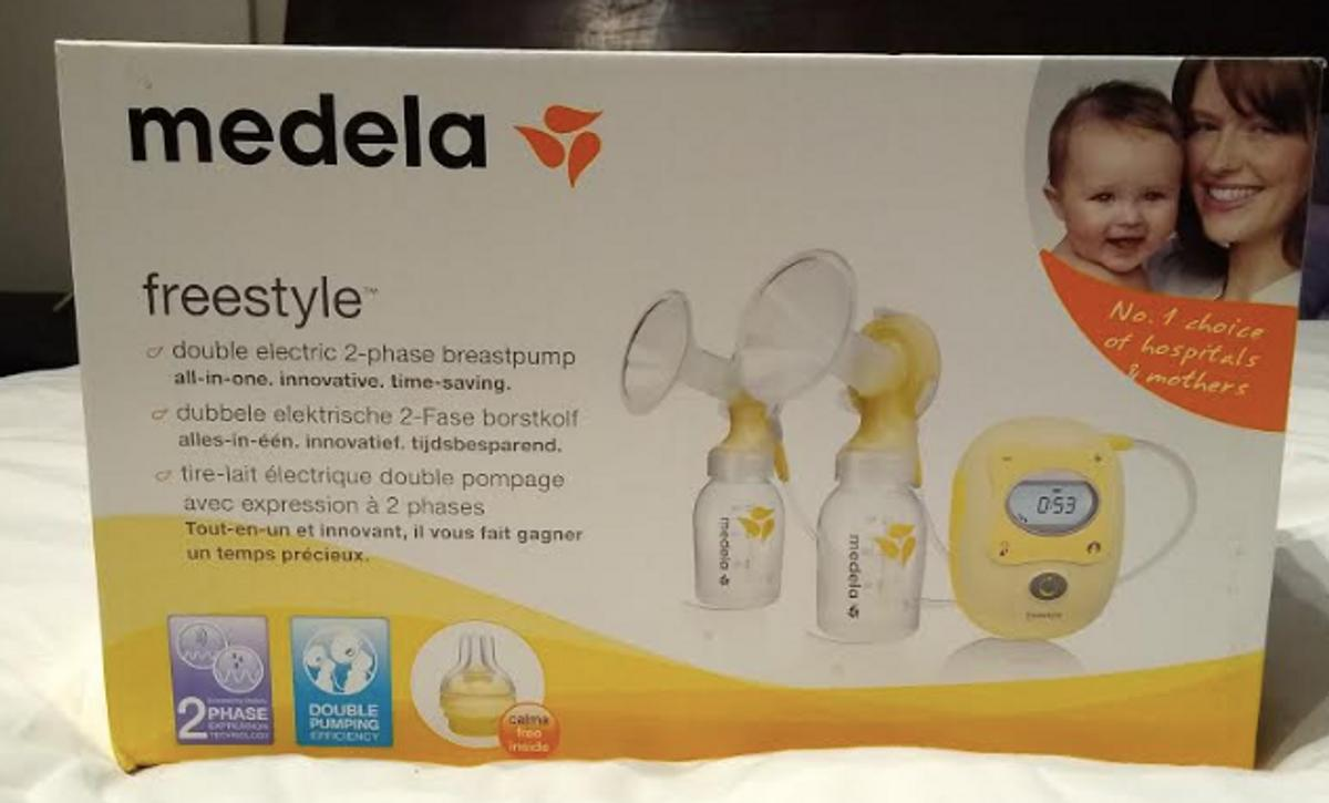 This is a new medela breast pump. It has never been used.