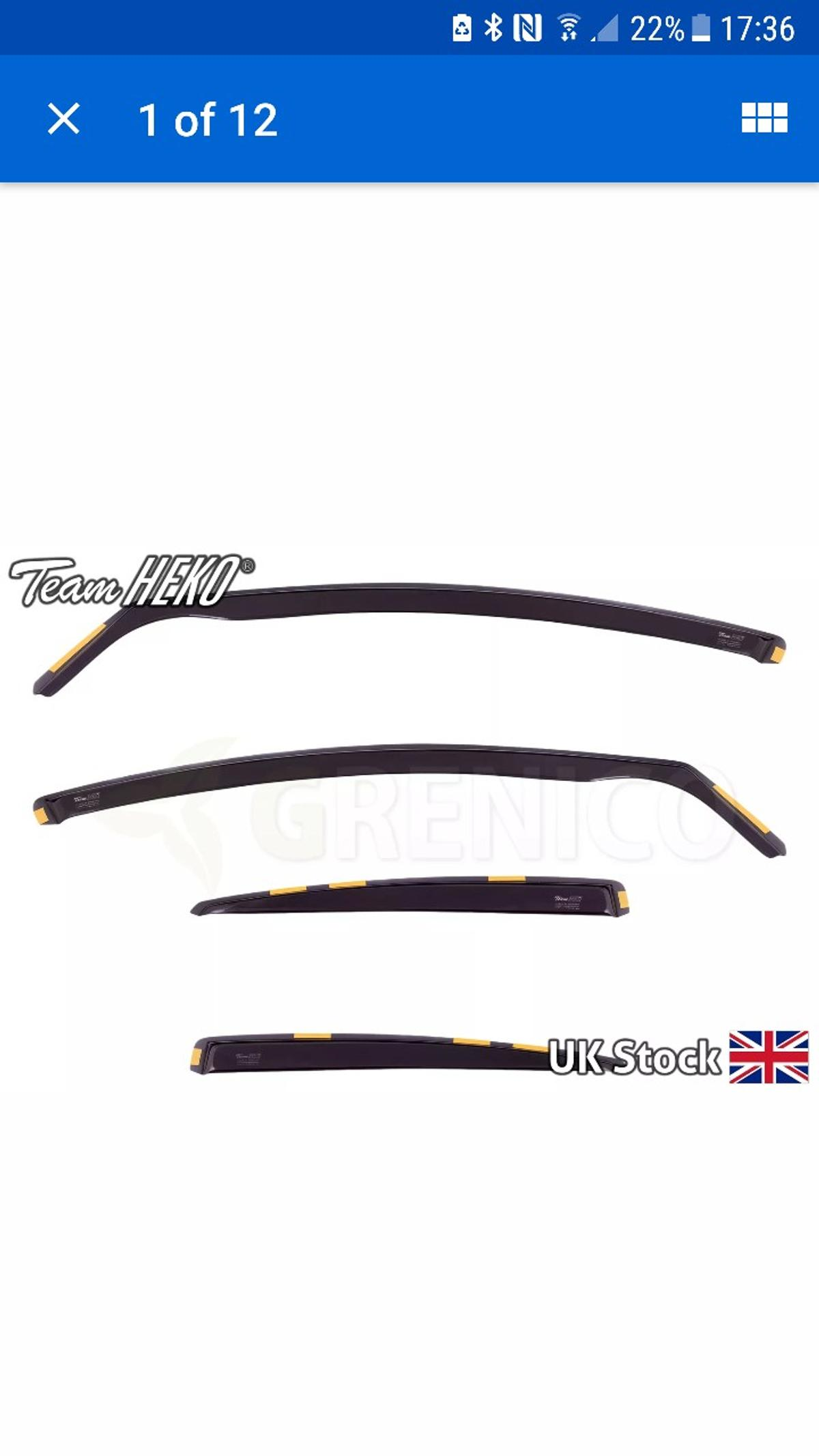 Full set front and rear dark smoke heko wind deflectors ford mondeo mk4 complete with fixing clips