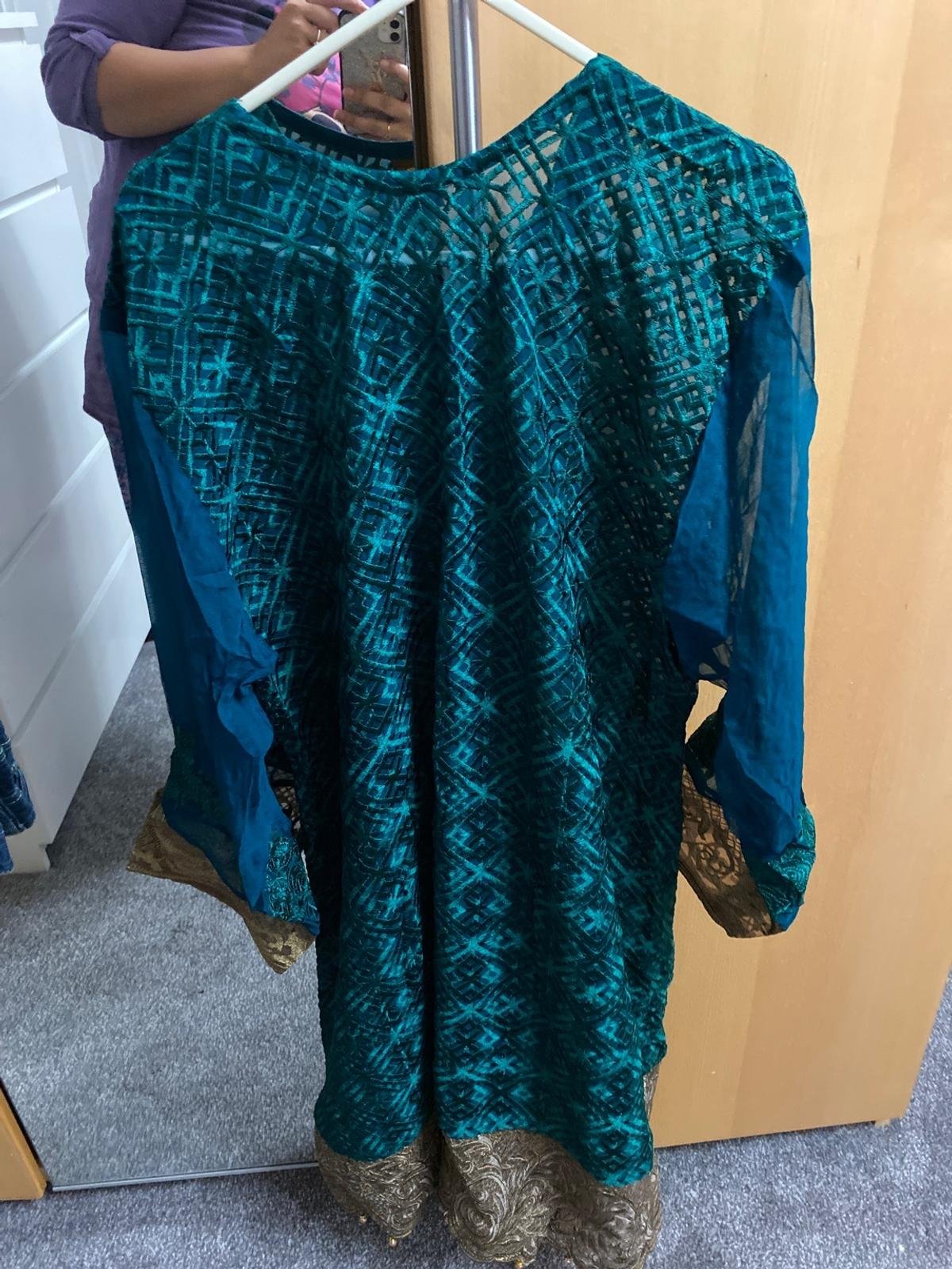 Brand new Size large to xl Comes with kameez,shameez, trouser and chiffon duppata (4pc)