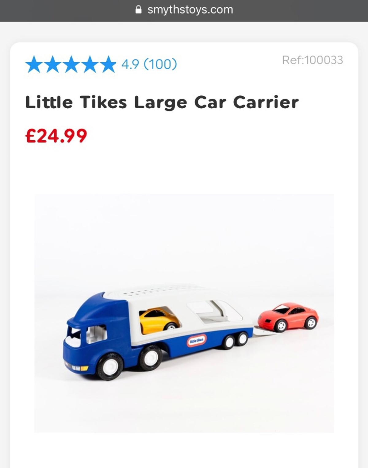 Little Tikes Large Car Carrier Contents: 2 sleek sports cars and Ramp Excellent condition Pick up only from Aldgate/ whitechapel E1