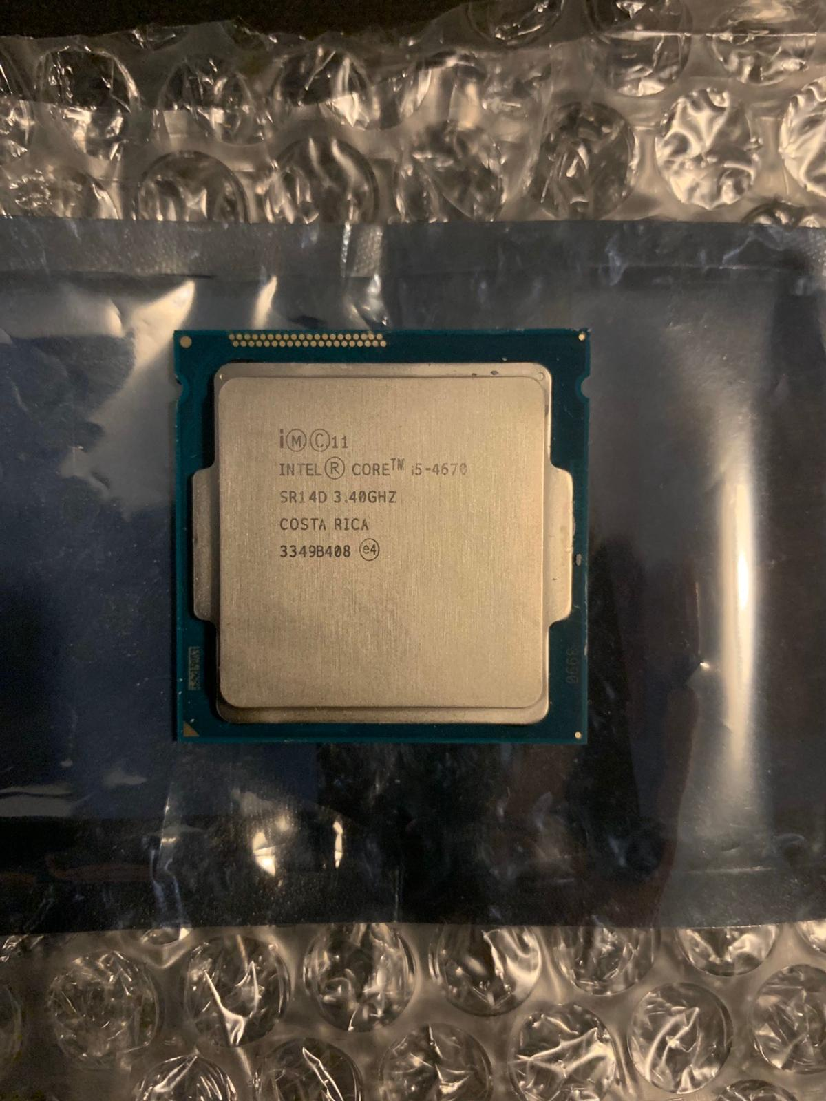 Intel Core i5-4670 Quad Core 3.4GHz.  Any questions please ask.