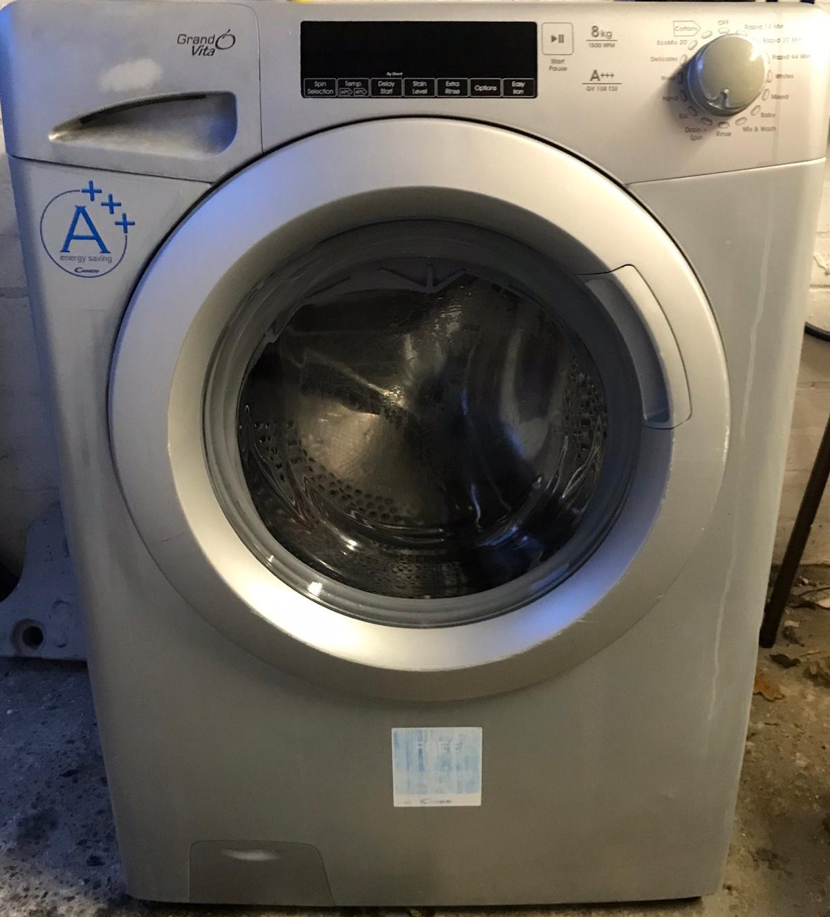 Candy washing machine 8kg 1500 spin Perfect working order Couple of cosmetic marks