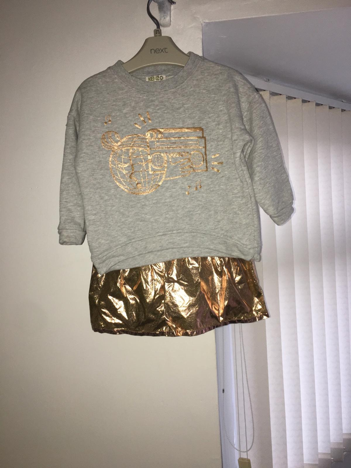 Kenzo dress/jumper Age 3- small sizing Can be a dress or a jumper Worn once