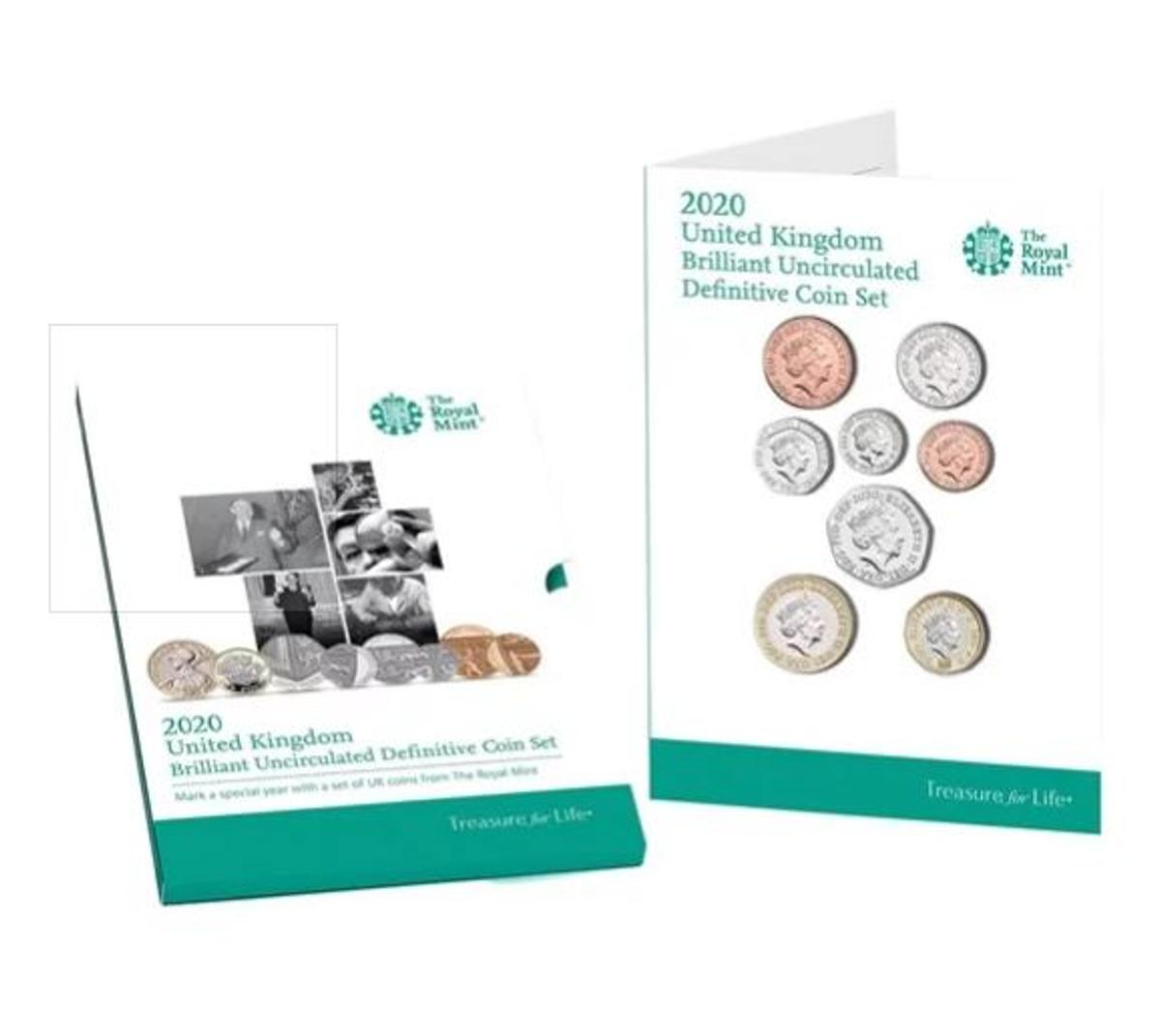 This is a SET CUT from the new 2020 United Kingdom Brilliant Uncirculated Annual Coin Set. Each coin is coming with its description card and this is a set cut from the 2020 UK BU Annual set.  The full 2020 UK BU annual coin set cut is formed of 8 coins:  £1 Brilliant Uncirculated 1p Brilliant Uncirculated 2p Brilliant Uncirculated 5p Brilliant Uncirculated 10p Brilliant Uncirculated 20p Brilliant Uncirculated 50p Brilliant Uncirculated £2 Brilliant Uncirculated  Can send via post with an extra