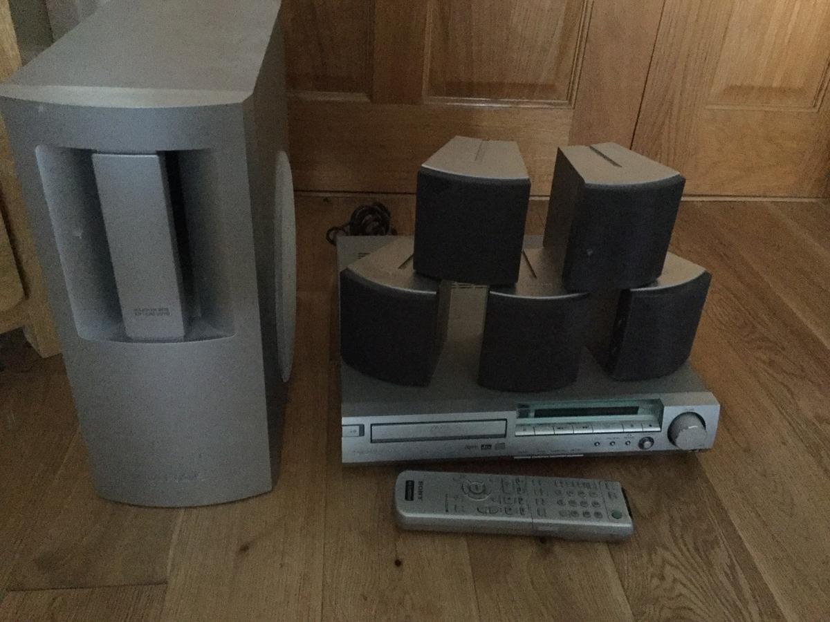 Sony surround sound DVD SUB WOOFER system good working order only selling due to upgrading tv with built in