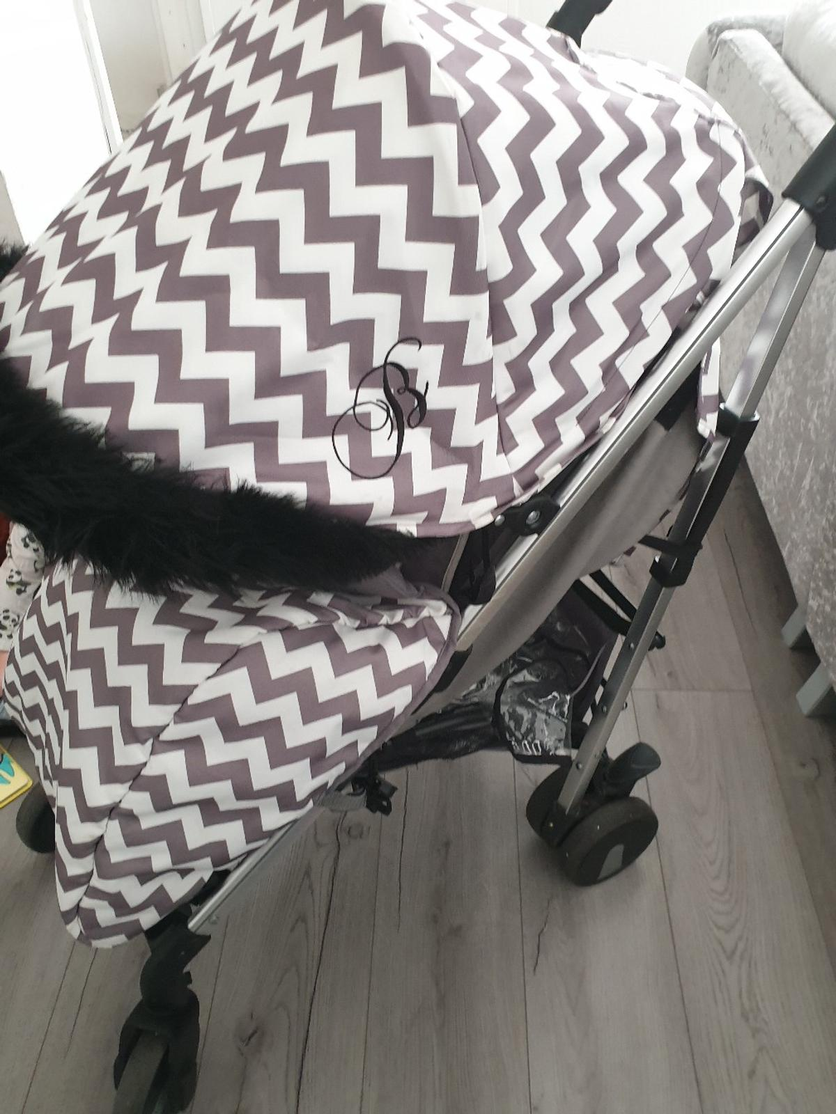 my babiie pram great used condition fur included cup holder rain cover