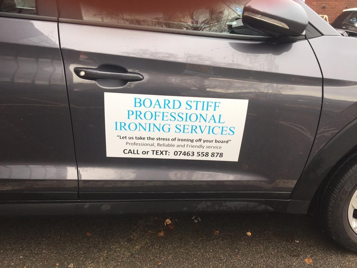 Are you tired of using time spent ironing when you could be spending it with family, friends or what really matters. Are you recovering from an operation or recent illness or do you know someone who is finding ironing a strain? If the answer is yes, contact Board Stiff Ironing Services. All ironing is done on business premises (not at home or garage) in a clean, smoke and pet free environment. Have your ironing done whilst your at work, Nothing is too small or large. Call or text 07463 558 878