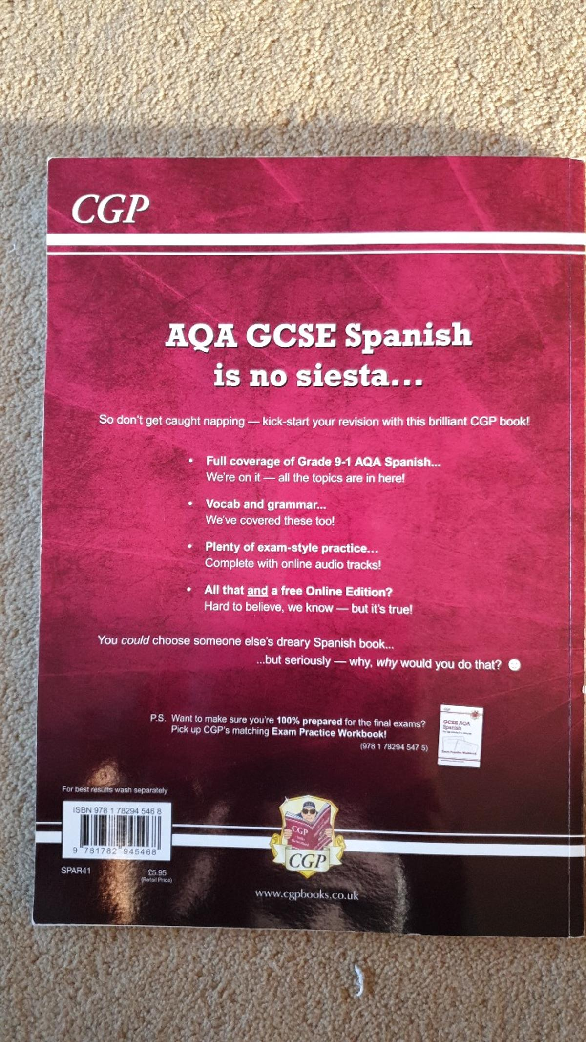GCSE SPANISH REVISION GUIDE  IN EXCELLENT CONDITION  COLLECTION ONLY