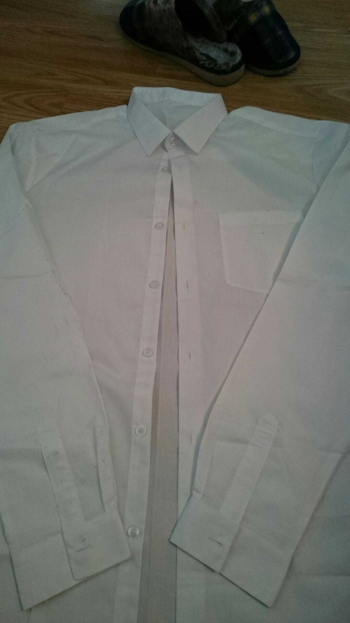 white long sleeve shirt, size 40 inch chest 50p collection please