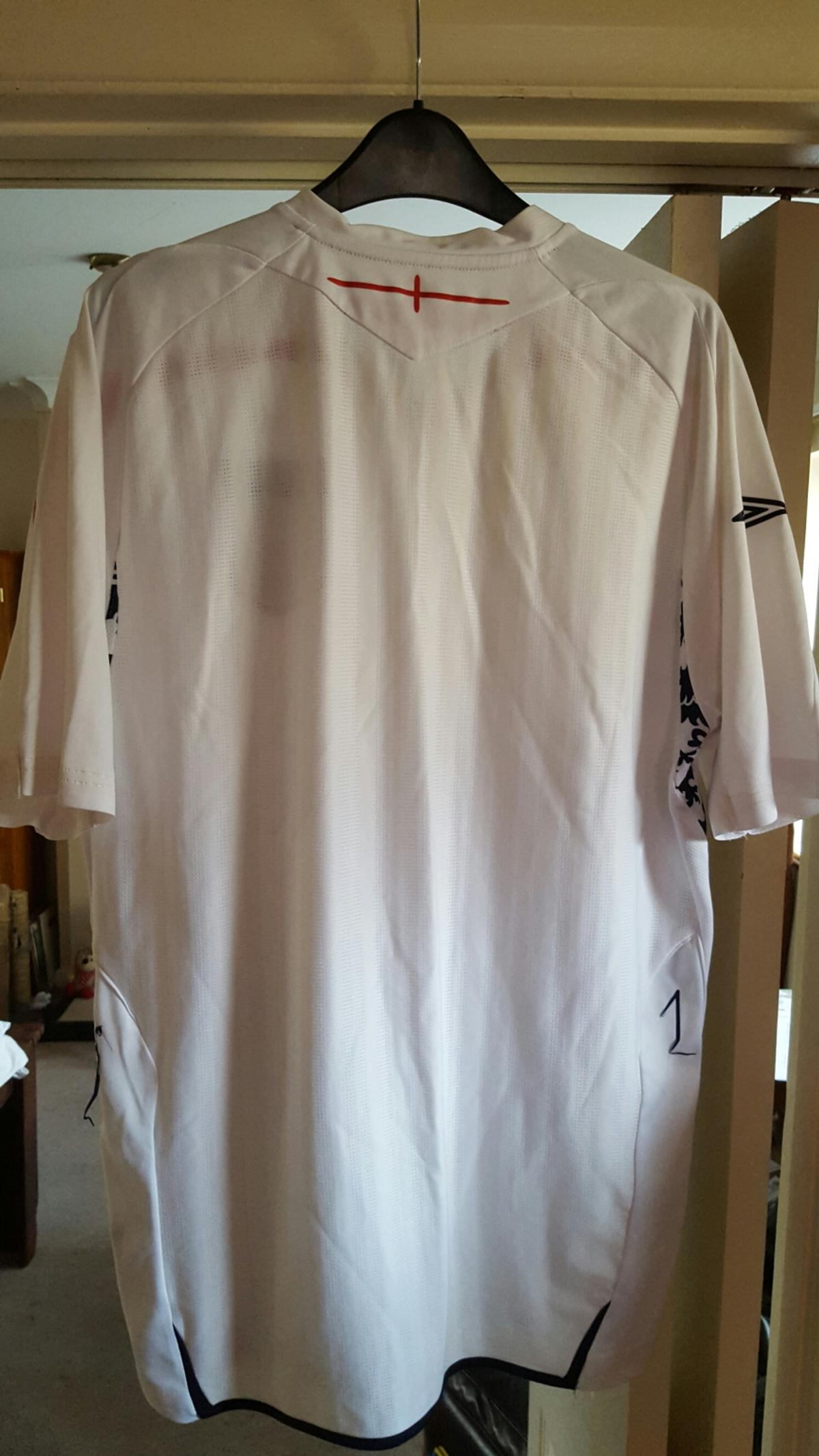 England football shirt, men's size large, decent condition. Collection or can post for p&p.