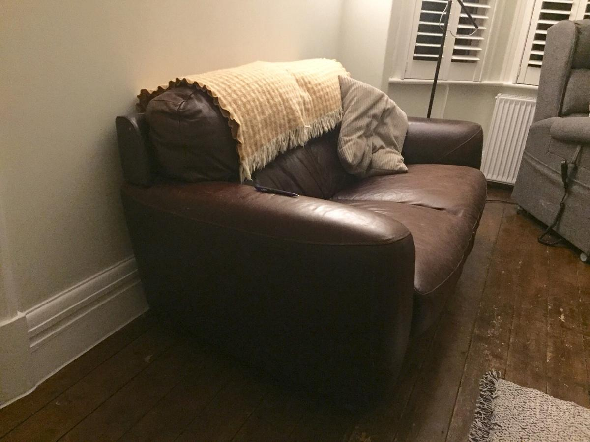 We're sad to be selling our sofa. We're selling it because we're moving home and we do not have the space for it in our new house.  The sofa is in really good condition, and we have tried to take excellent care of it.  Dimensions: Height- 80cm Width- 93cm Length- 177.5cm  We can deliver locally around Stockport/South & central Manchester.