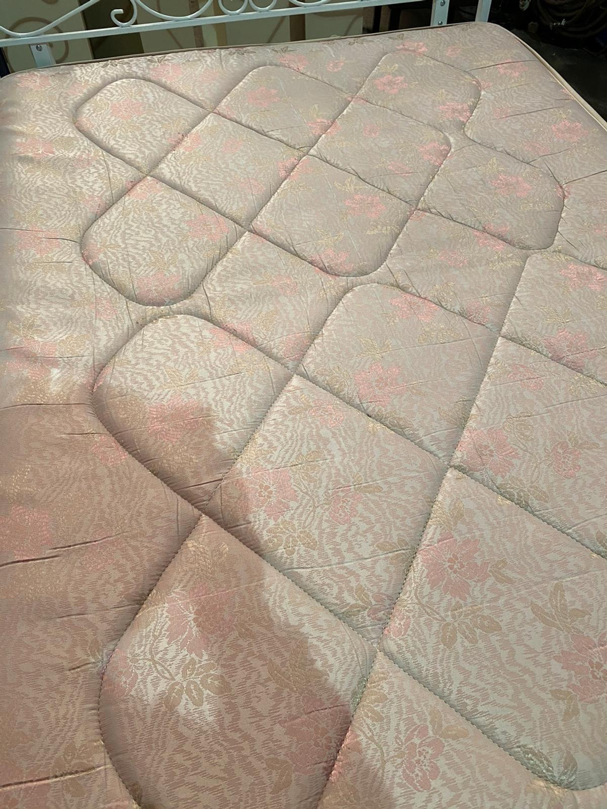 4draw Double divan bed with mattress headboard good condition collection from s9 or delivery can be arranged