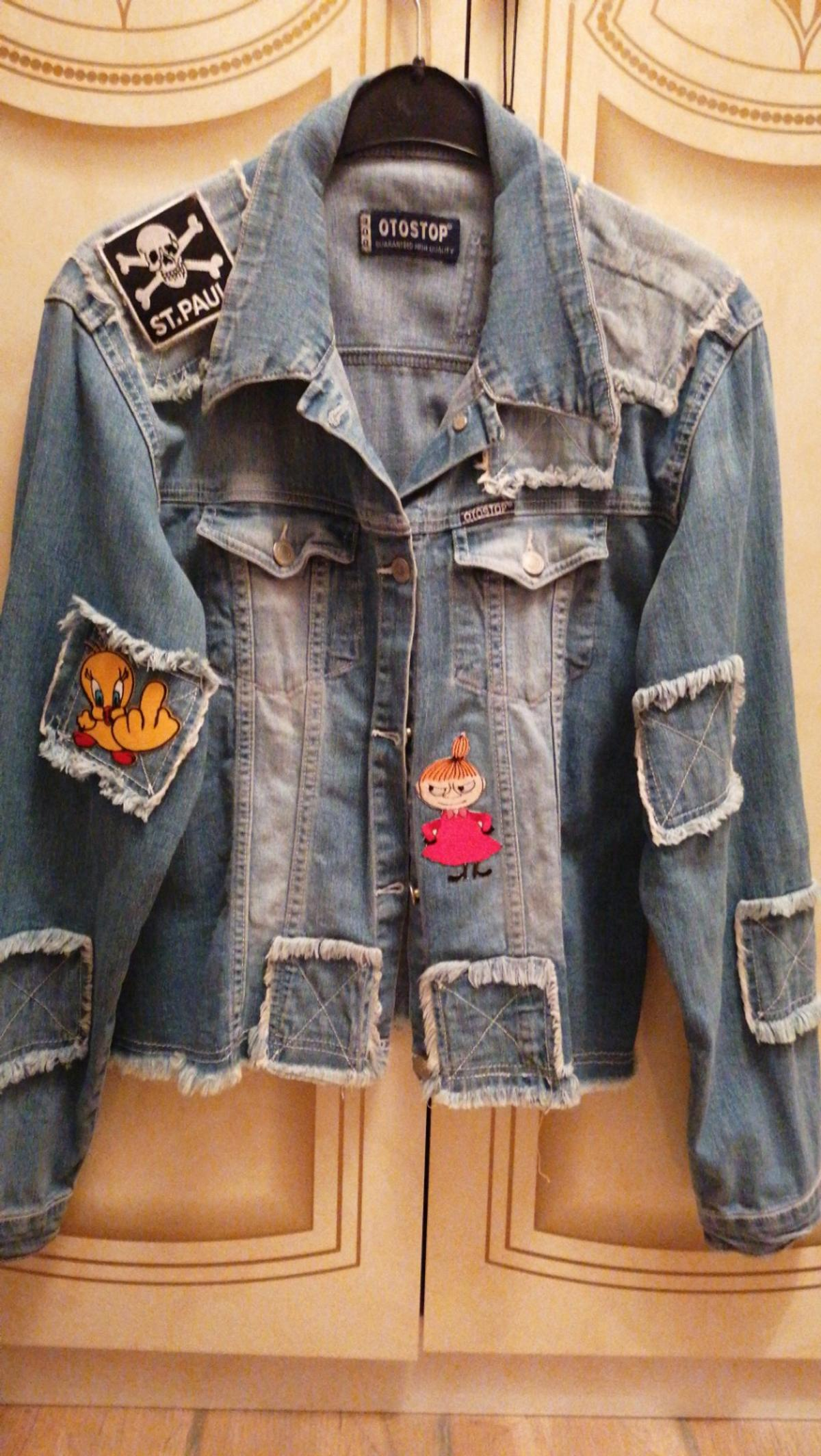 Coole Patchwork Jeansjacke Mit Patches In 46282 Dorsten For 15 00