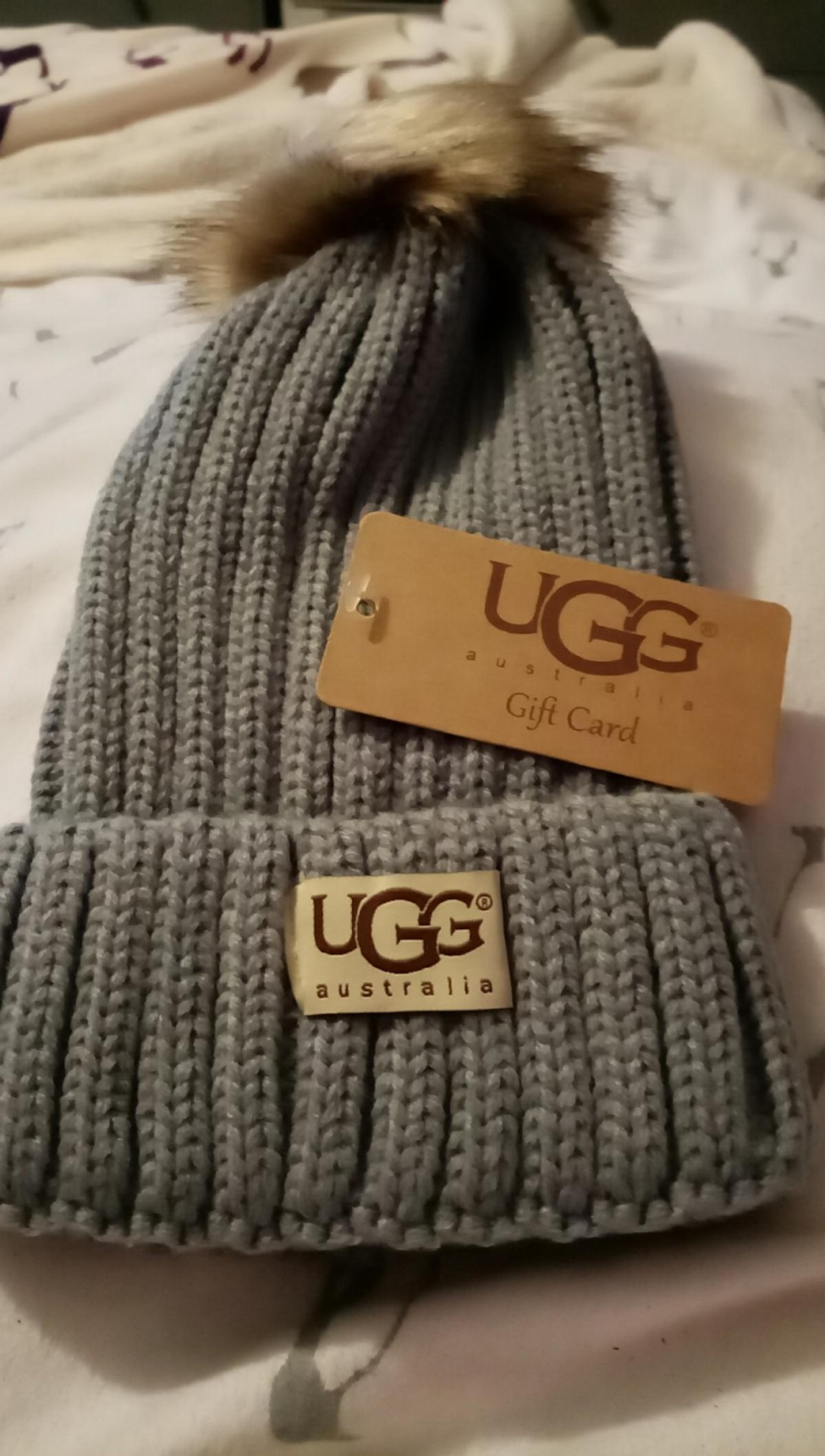 Grey Ugg with removable bobble authentic packaging & giftcard collection only no timewasters plz as am fundraising 4 mental health charity atm thanku x #2ndchance