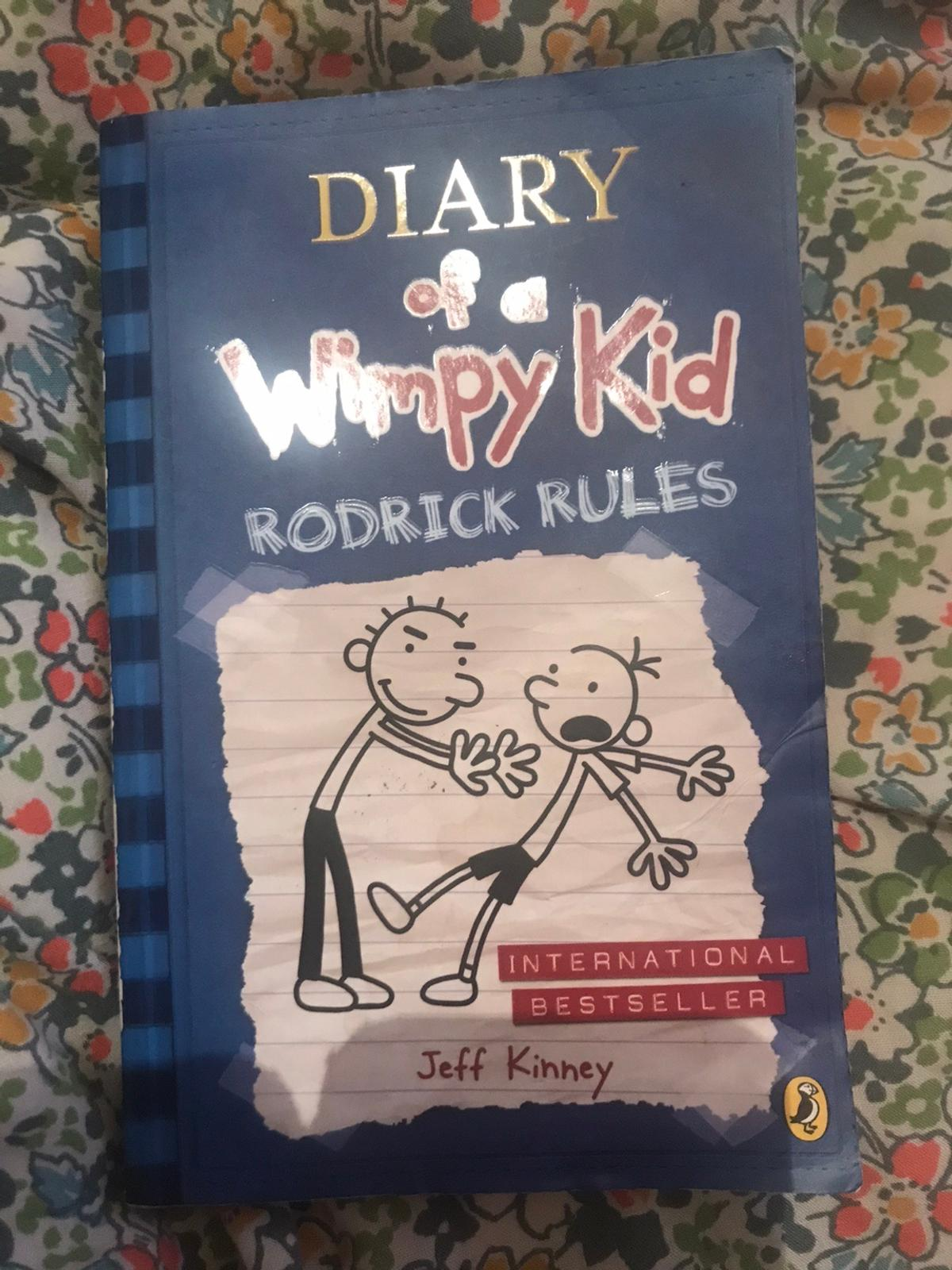 Children's book Diary of a Wimpy Kid, Roderick Rules - Jeff Kinney Used, good condition