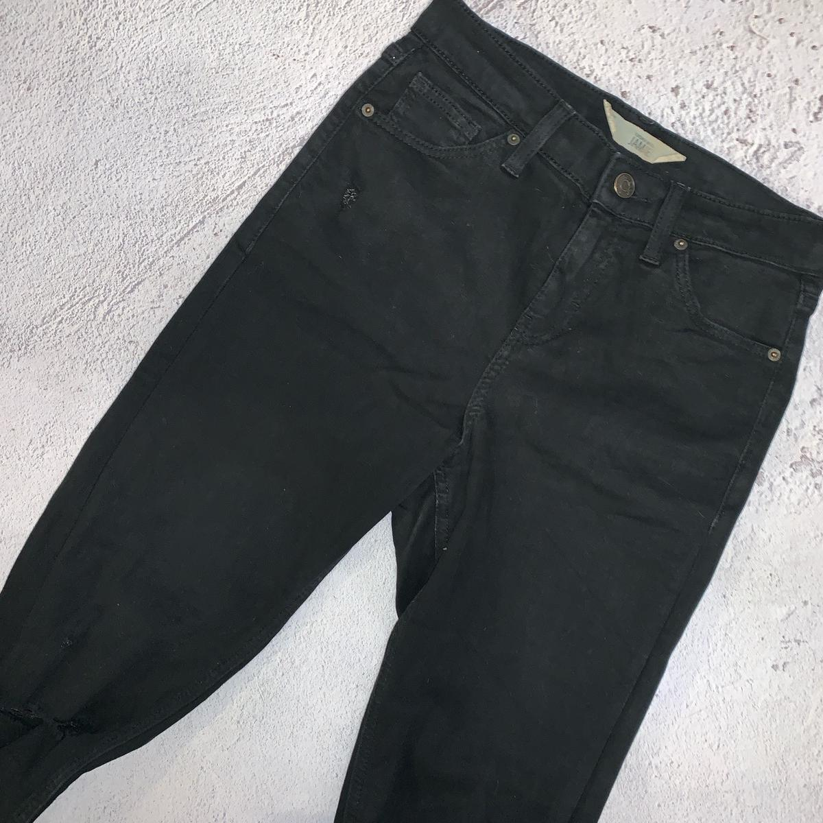 Topshop Jamie Jeans Skinny Stretch High Waisted W26 L30 Some wash wear Ripped knees