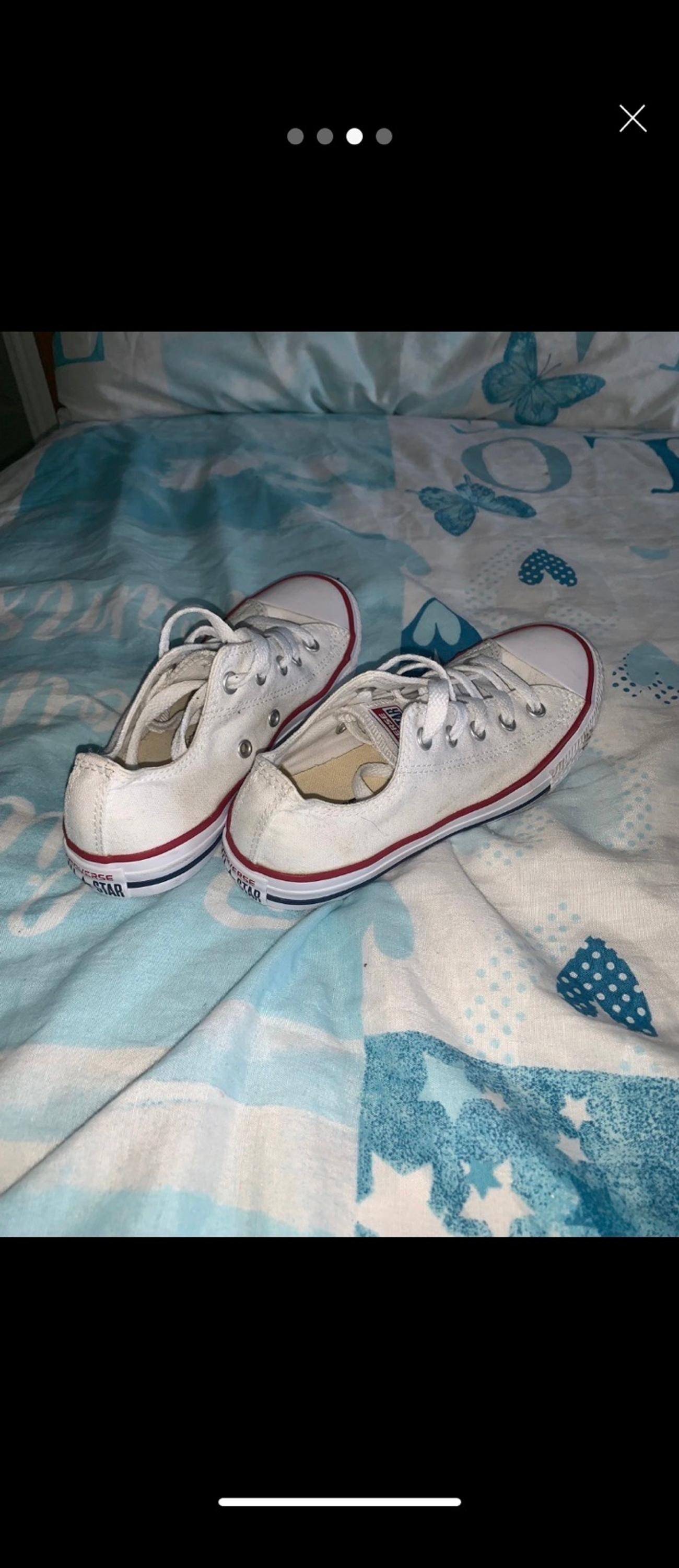 White converse Excellent condition Size 1 junior Comes from a pet free, smoke free home