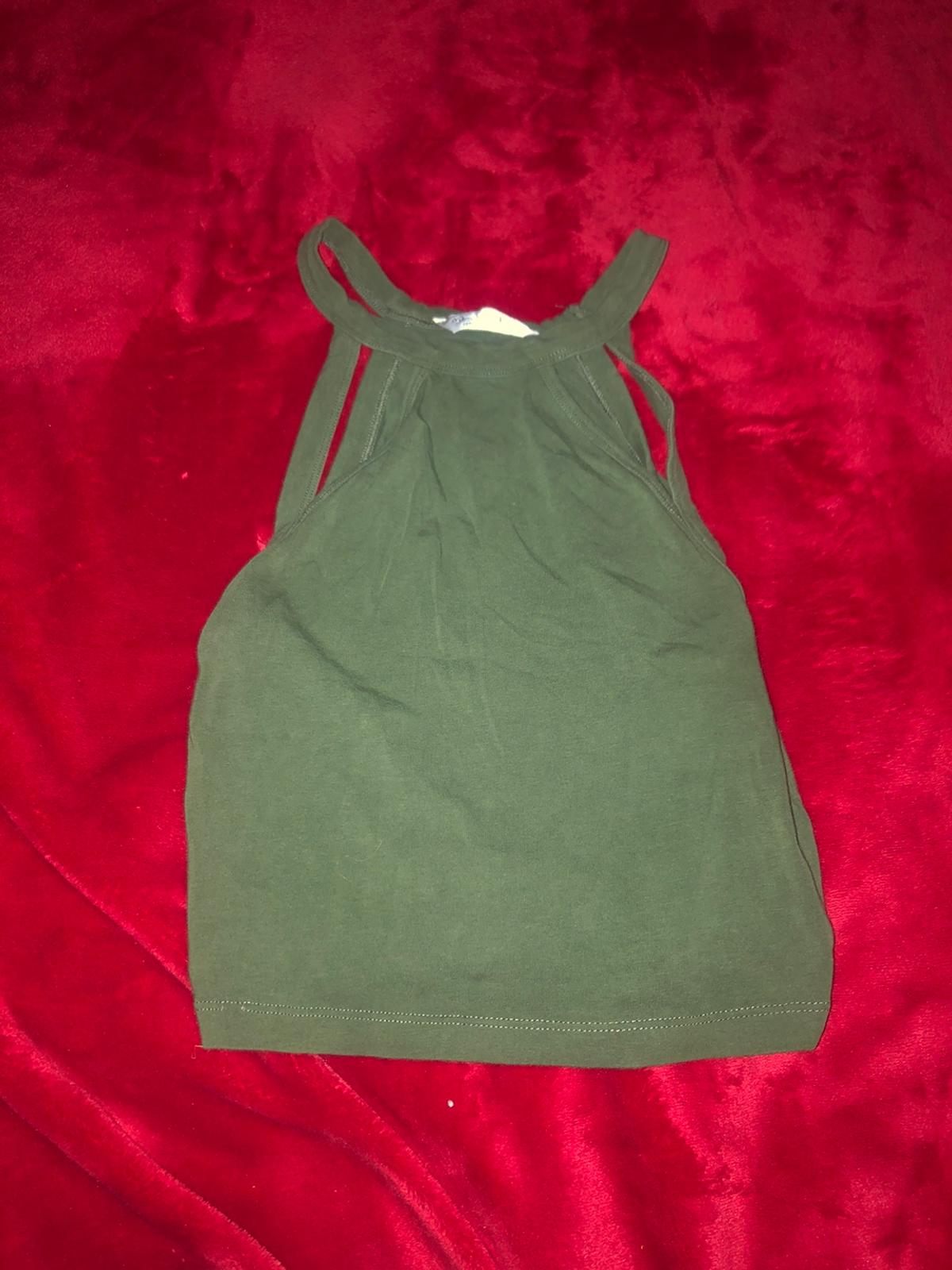 dark ish green colour UK size 6 not worn much soft material